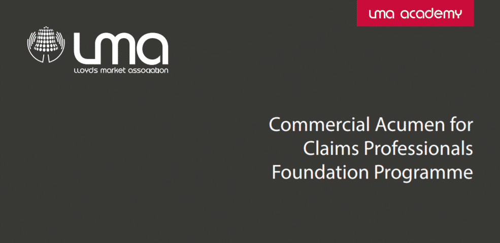 Commercial Acumen for Claims Professionals