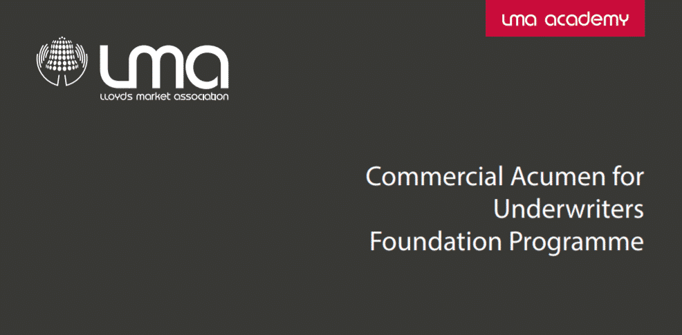 Commercial Acumen for Underwriters programme
