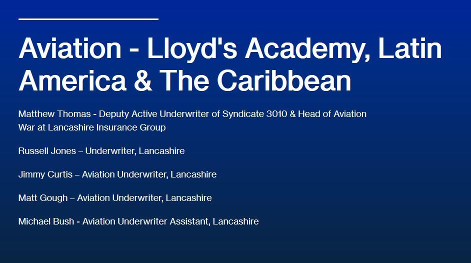Aviation - Lloyd's Academy, Latin America & The Caribbean